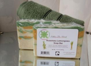 Alaska Made Rosemary Lemongrass Soap Bar Alaska Natural Bath Products by Northern Lite Naturals
