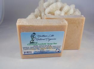 Coconut Confetti' Soap Bar Alaska Natural Bath Products by Northern Lite Naturals